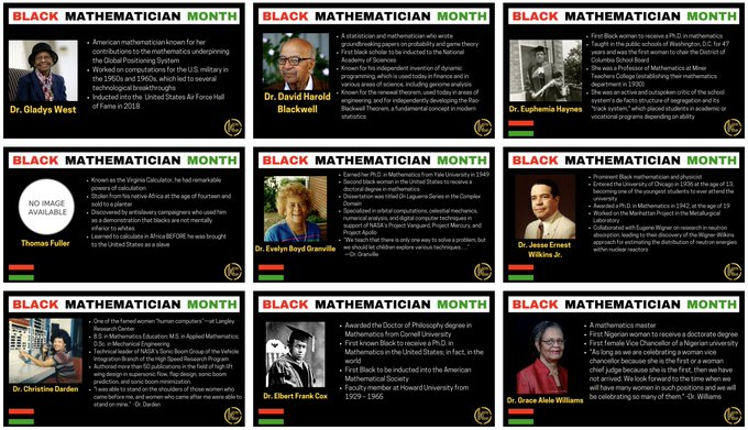 BlackMathematicianMonth